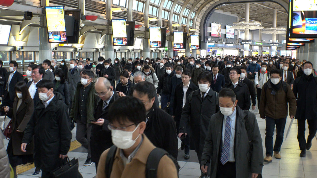 japan tokyo train station rush hour
