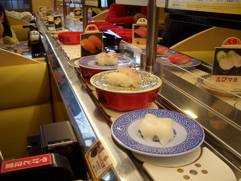 kura sushi interior