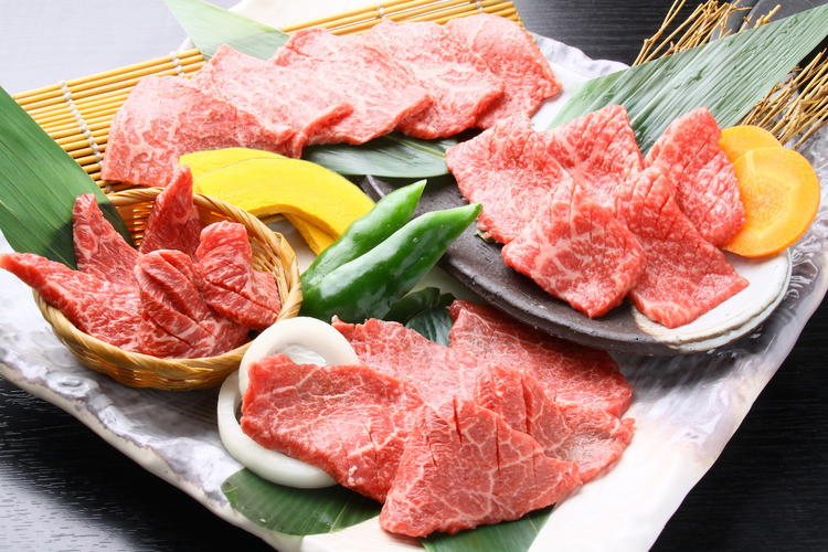 4 types of yakiniku meat