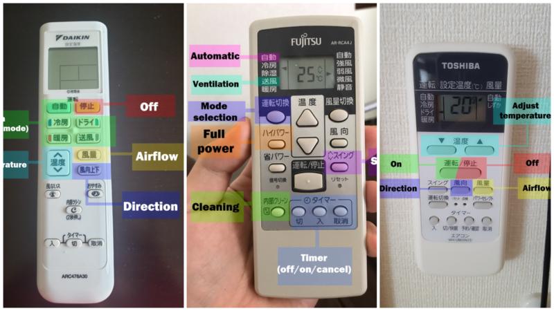 daikin air conditioner remote