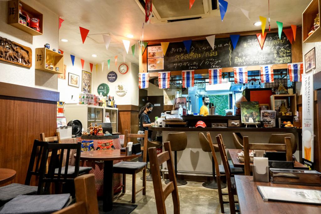 ร้านอาหารไทย tuktuk ภายในร้าน