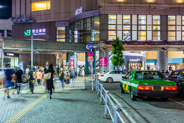 front of jr ebisu station (taxi area)
