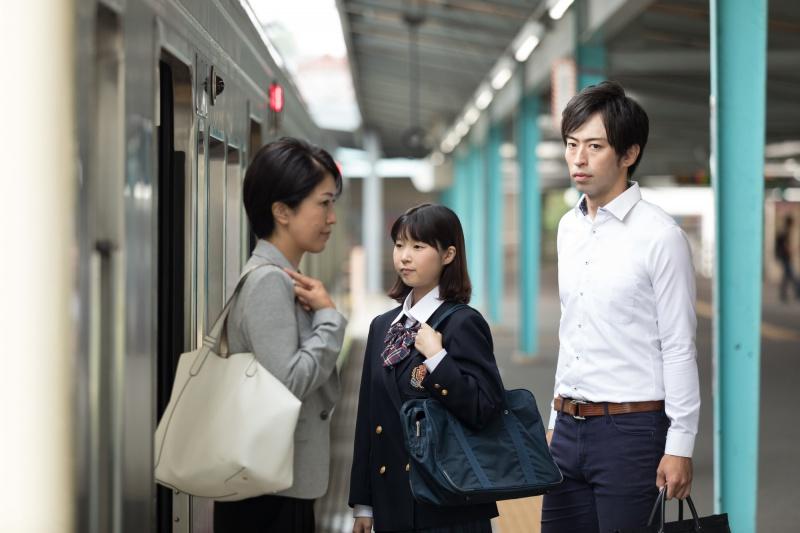 일본 전철 탑승