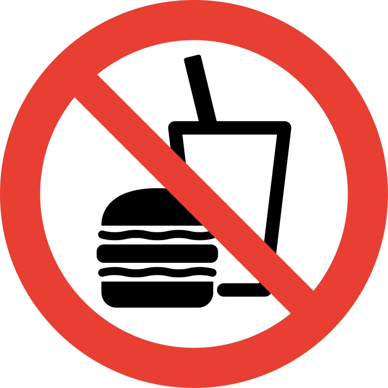 biển báo cấm ăn uống