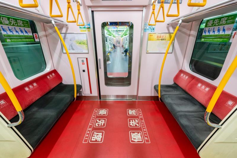 khu vực ghế ưu tiên trên tàu ở Nhật Bản