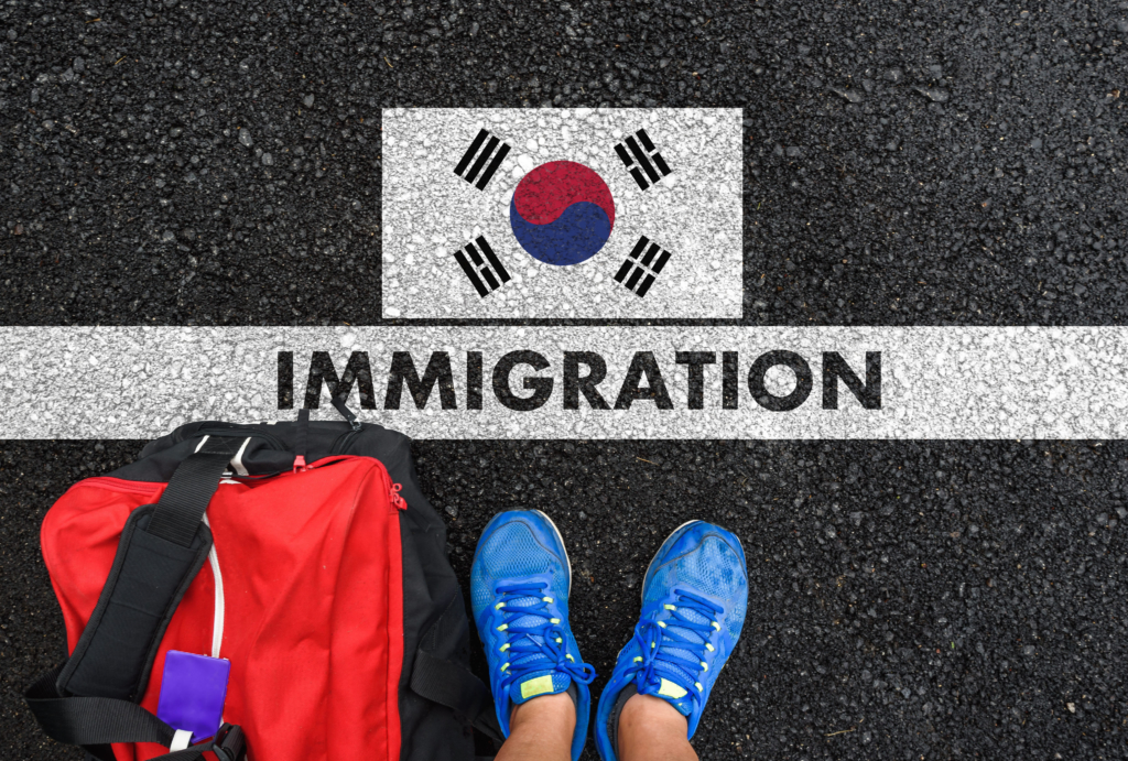vạch kẻ nhập cảnh vào Hàn Quốc