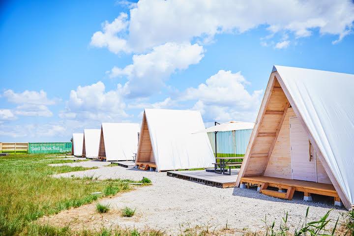 Công viên cắm trại bên bờ biển ở Chiba