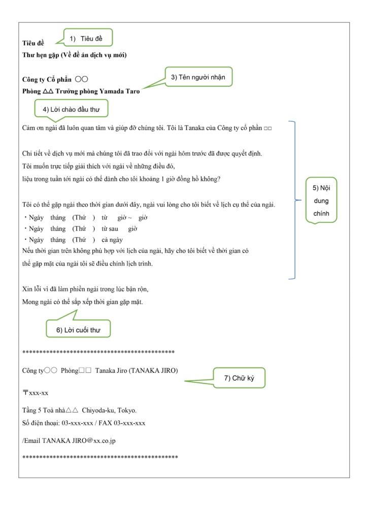 mail trao đổi công việc (bản dịch tiếng Việt)