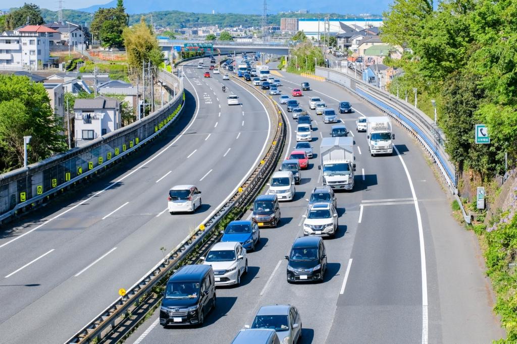 six-lane highway