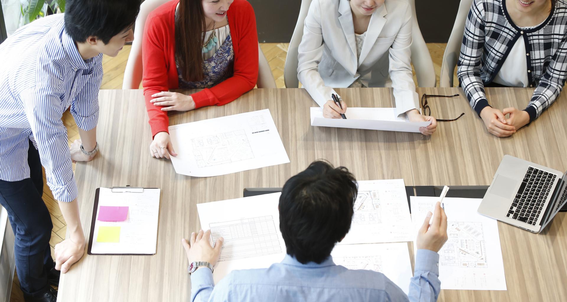 Japanese company meeting