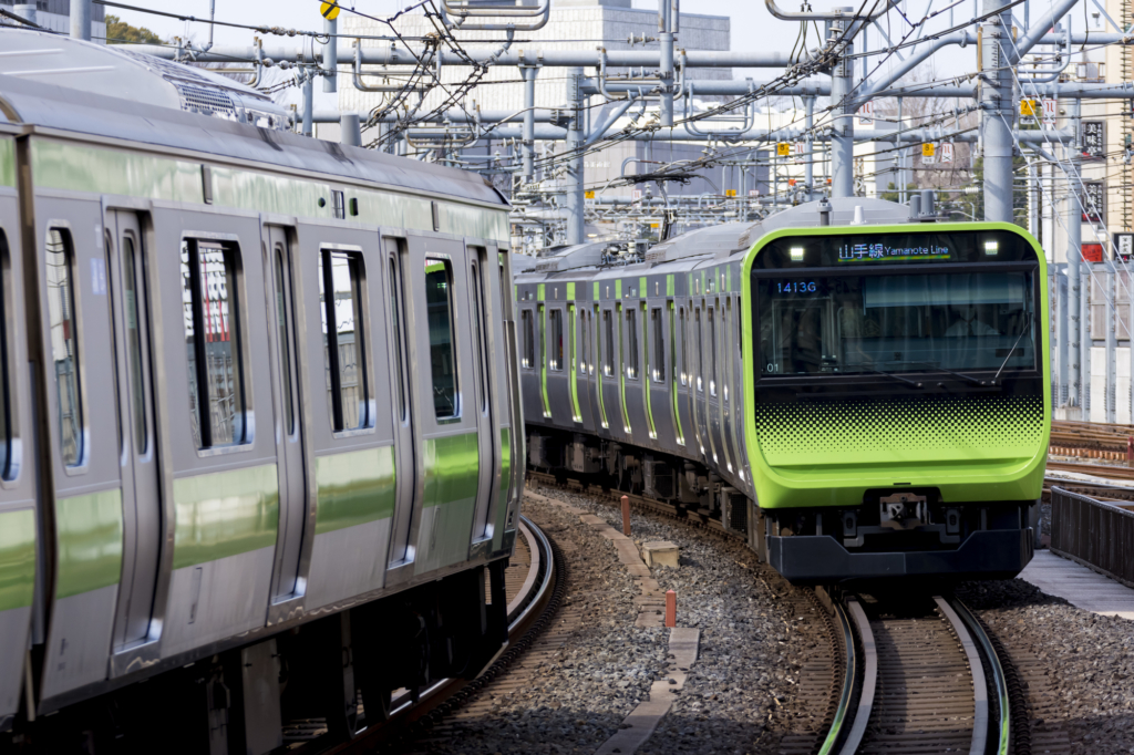 two Yamanote Line trains