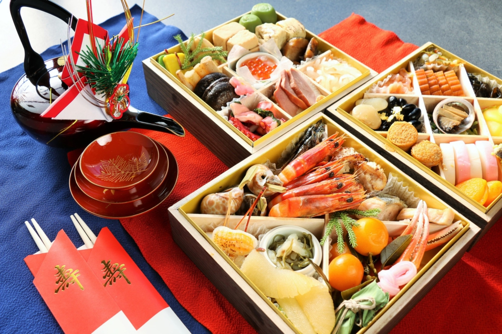 an osechi spread