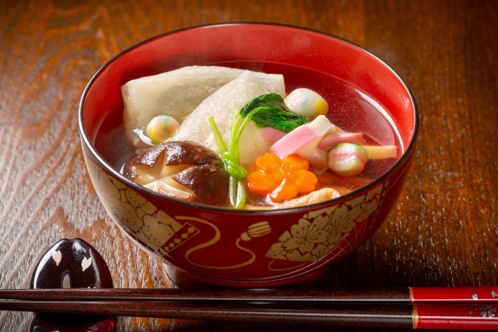 súp mochi năm mới