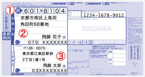 phiếu vận chuyển của Sagawa