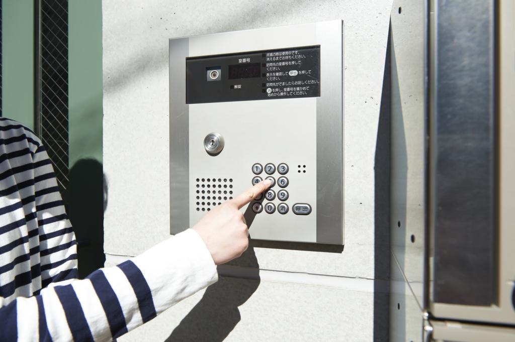 electronic lock and intercom