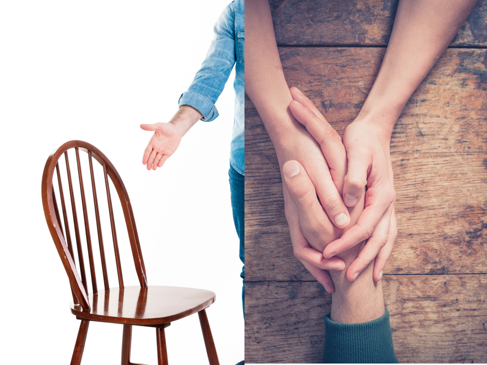 Offering a seat vs. touching