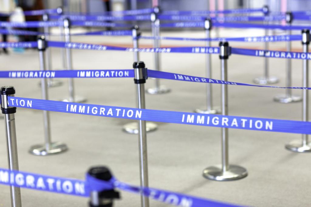 Japan airport immigration line