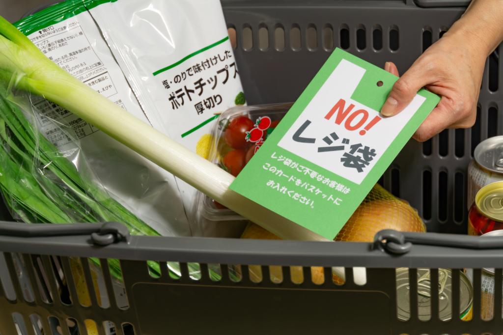 No Plastic Bag Card
