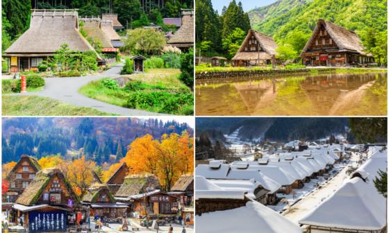 làng mái tranh ở Nhật Bản