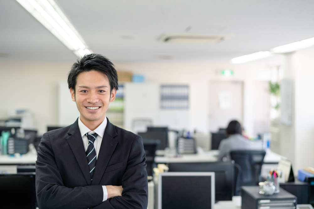 professional japanese man in an office