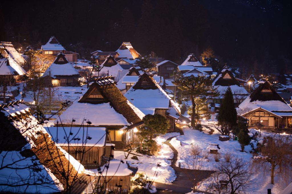 Miyama Kayabuki no Sato vào mùa đông
