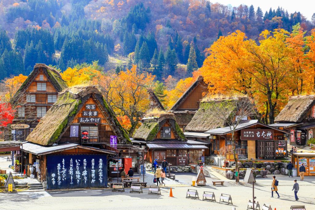 shirakawago vào mùa thu