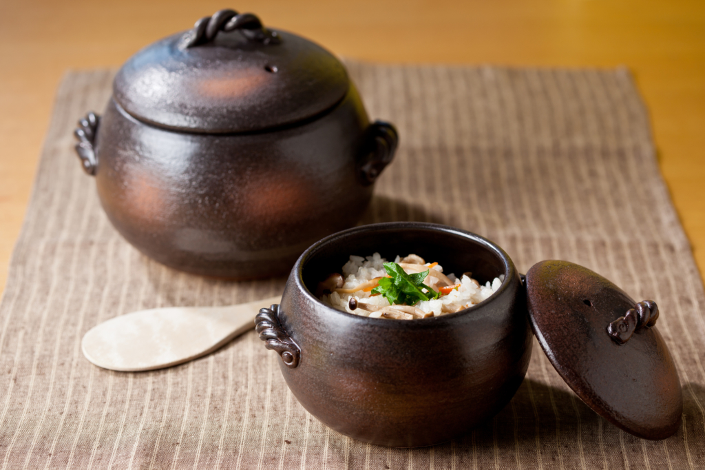 萬古燒土鍋煮的飯