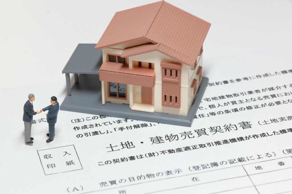 house diorama atop a contract