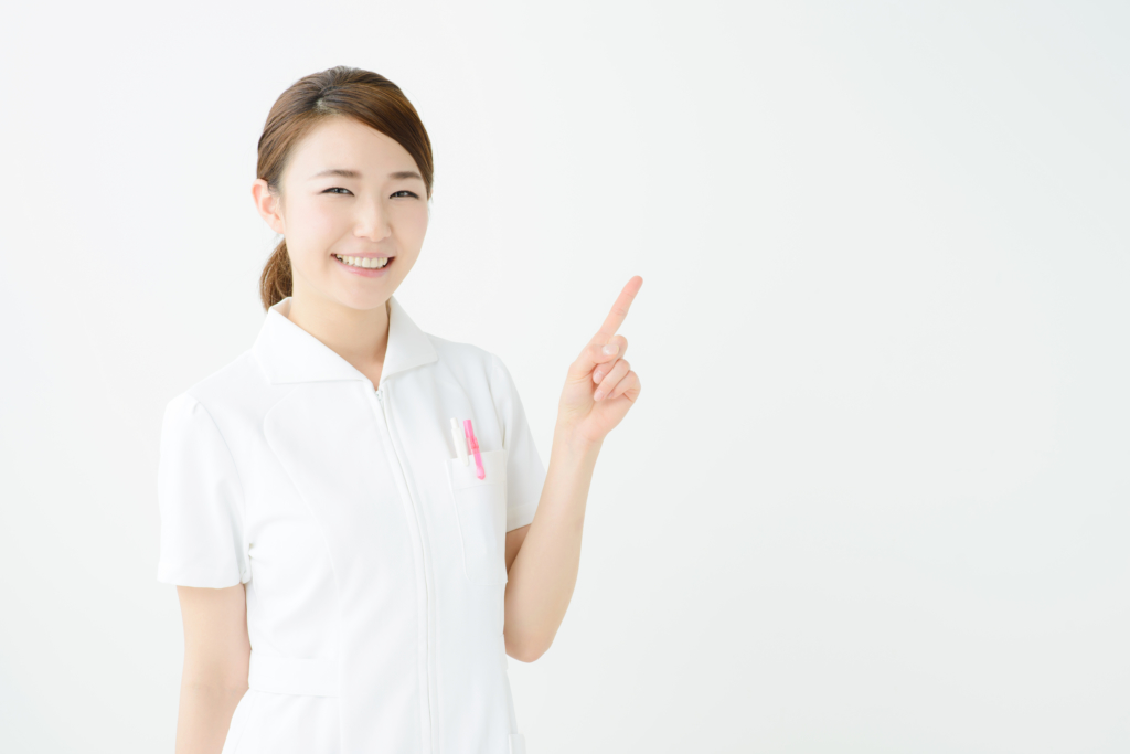 smiling pointing doctor