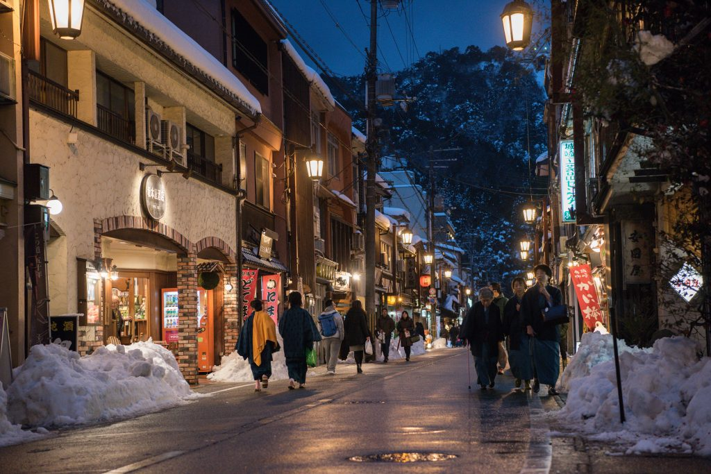Winter townscape Kinosaki Onsen