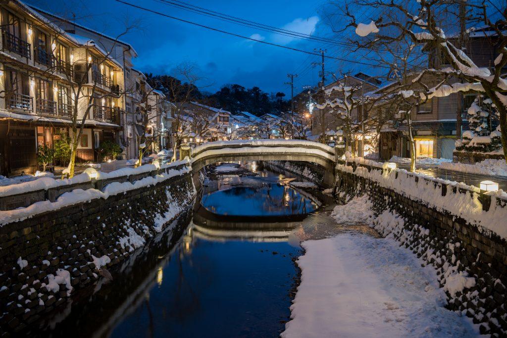 Kinosaki Onsen in the snow