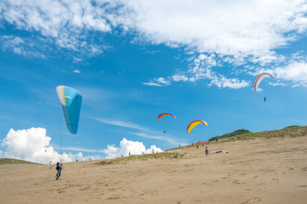 Paragliding at the Tottori Sand Dunes