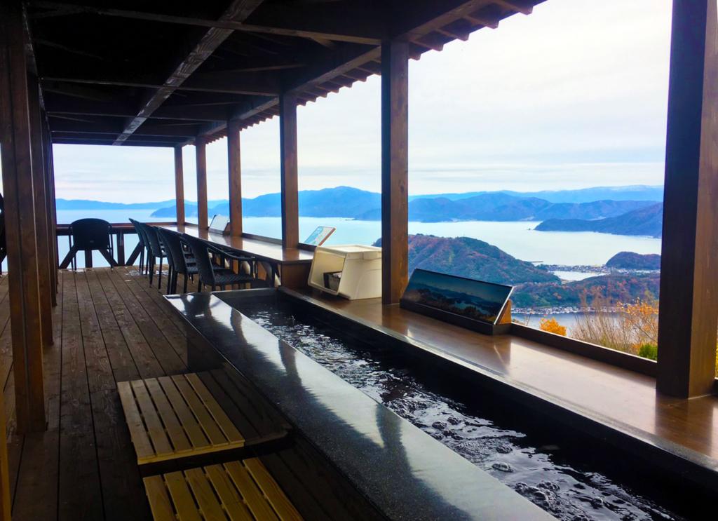 Rainbow Line terrace with foot bath