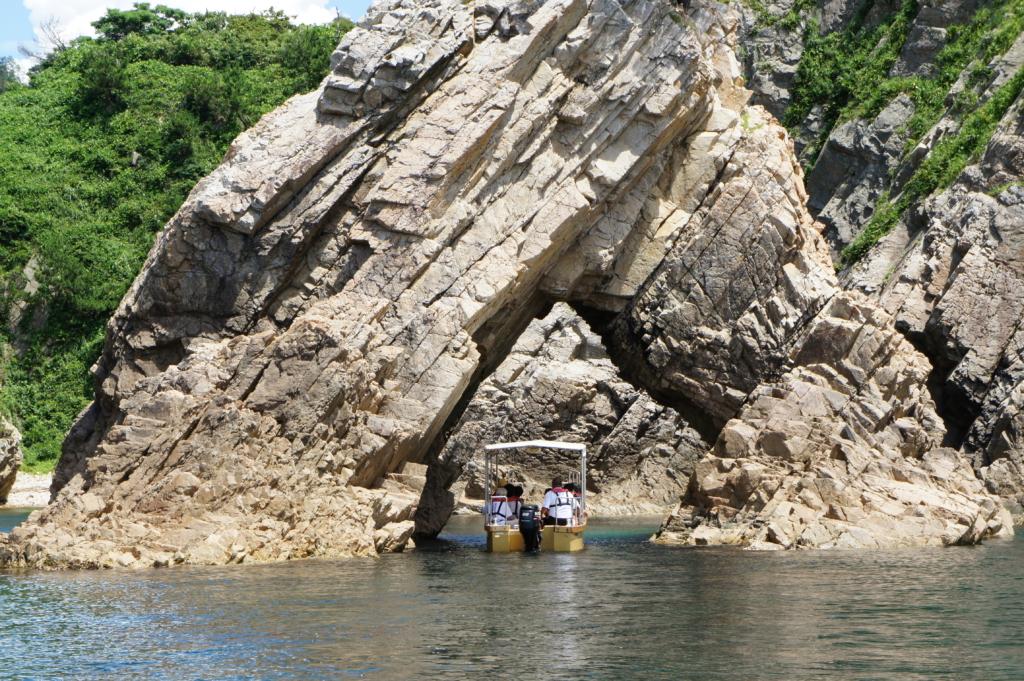 Uradome Coast rock formation