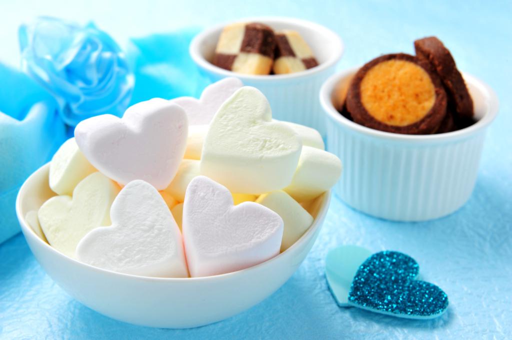 White day marshmallows