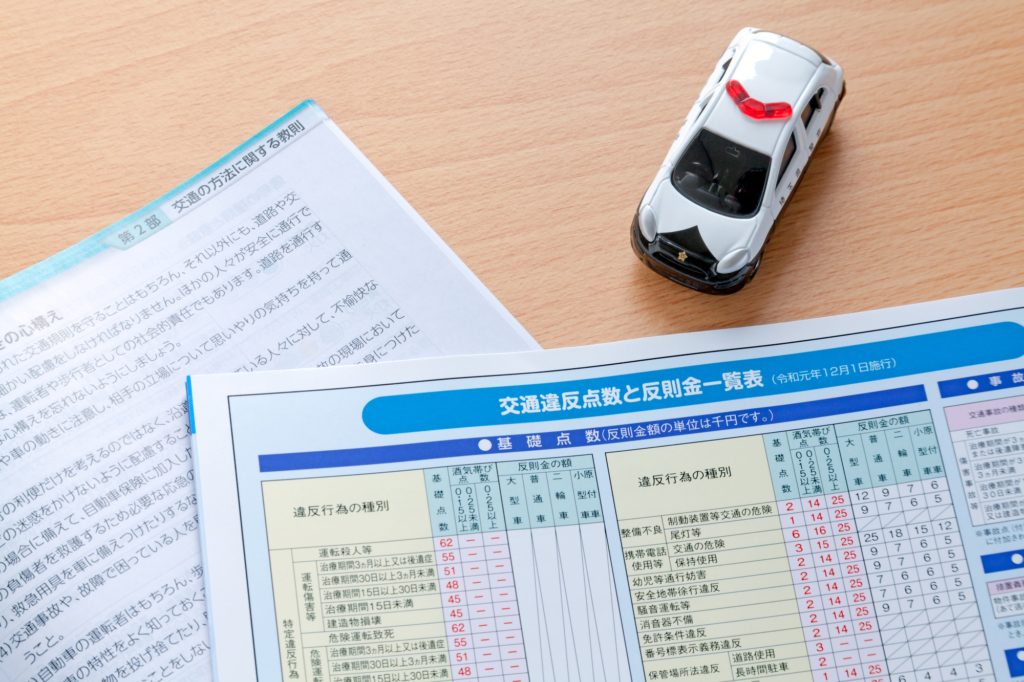 Driving theory textbooks and toy car