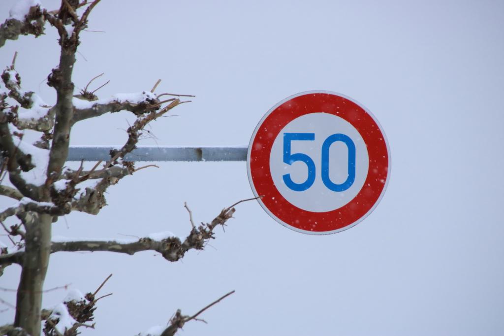 限速50的道路標誌