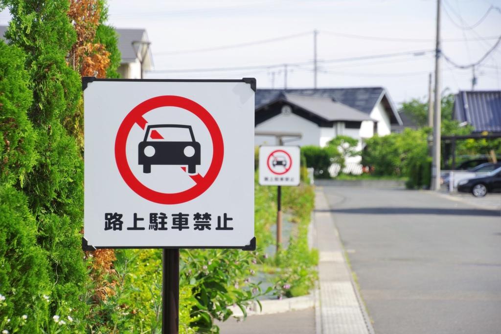 禁止陸上隨意停車的道路標誌