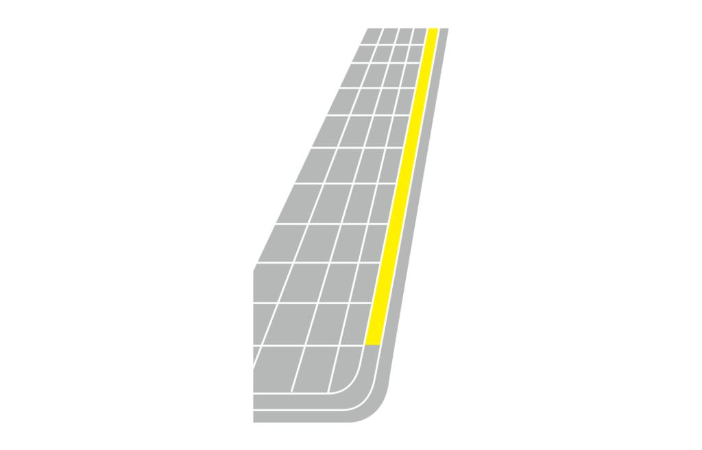 黃色實線的示意圖