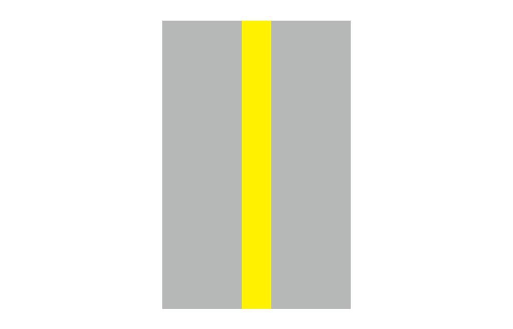 分向限制線為黃色實線的標誌