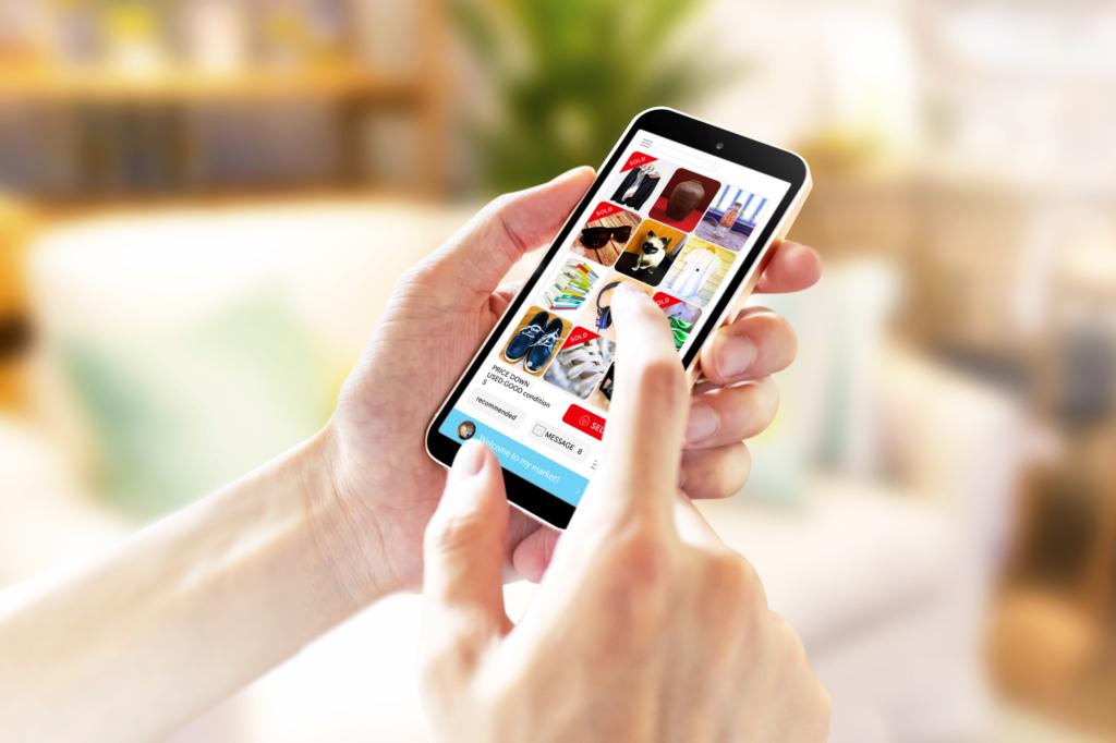 ứng dụng Mercari trên điện thoại
