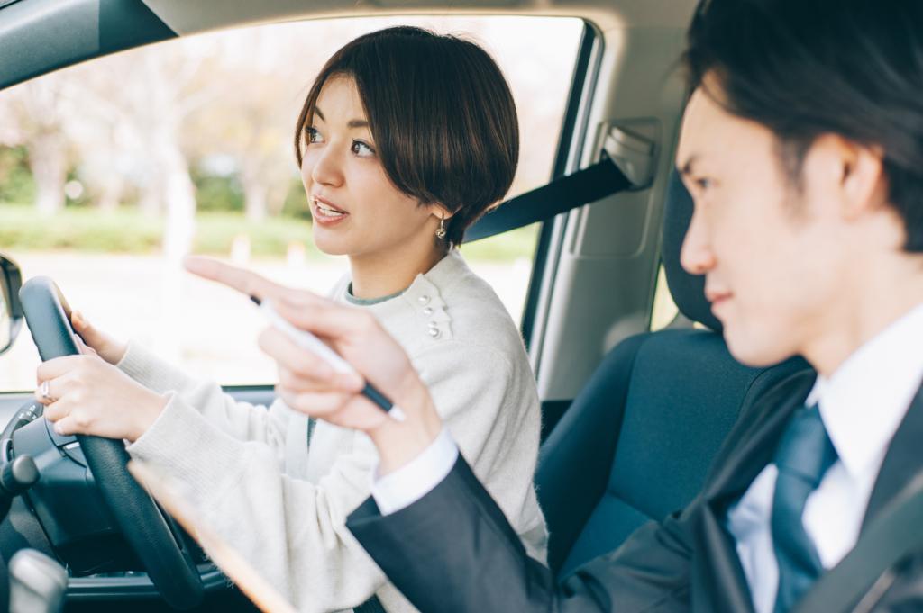 일본 운전학원 연습