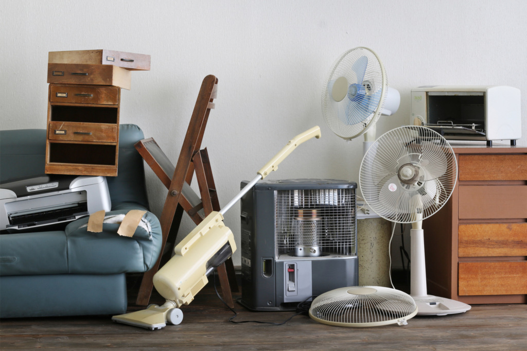 rác quá khổ: quạt, máy sưởi, tủ