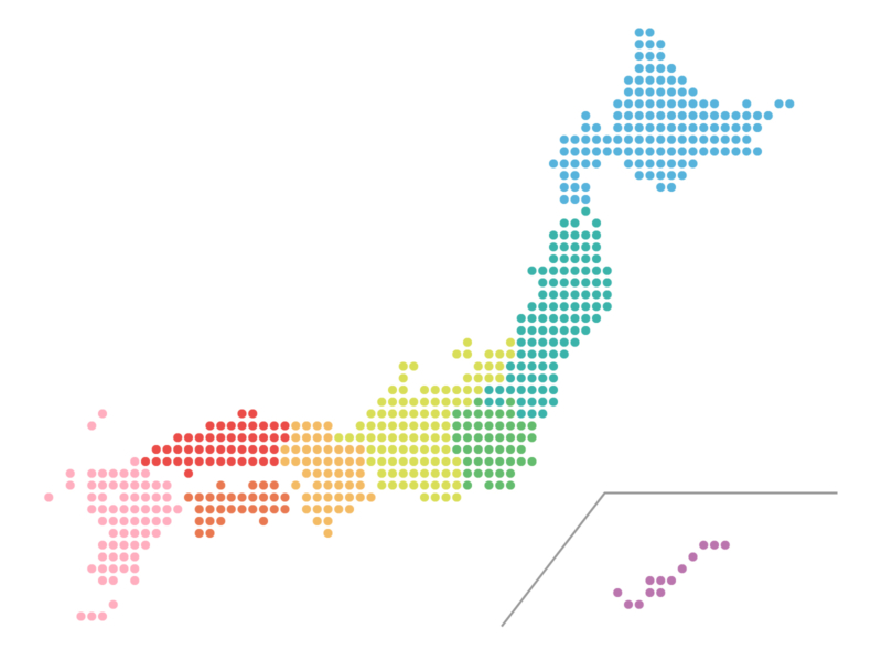different regions of japan