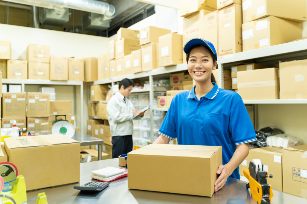 foreigner working a part-time job in japan as a factory worker