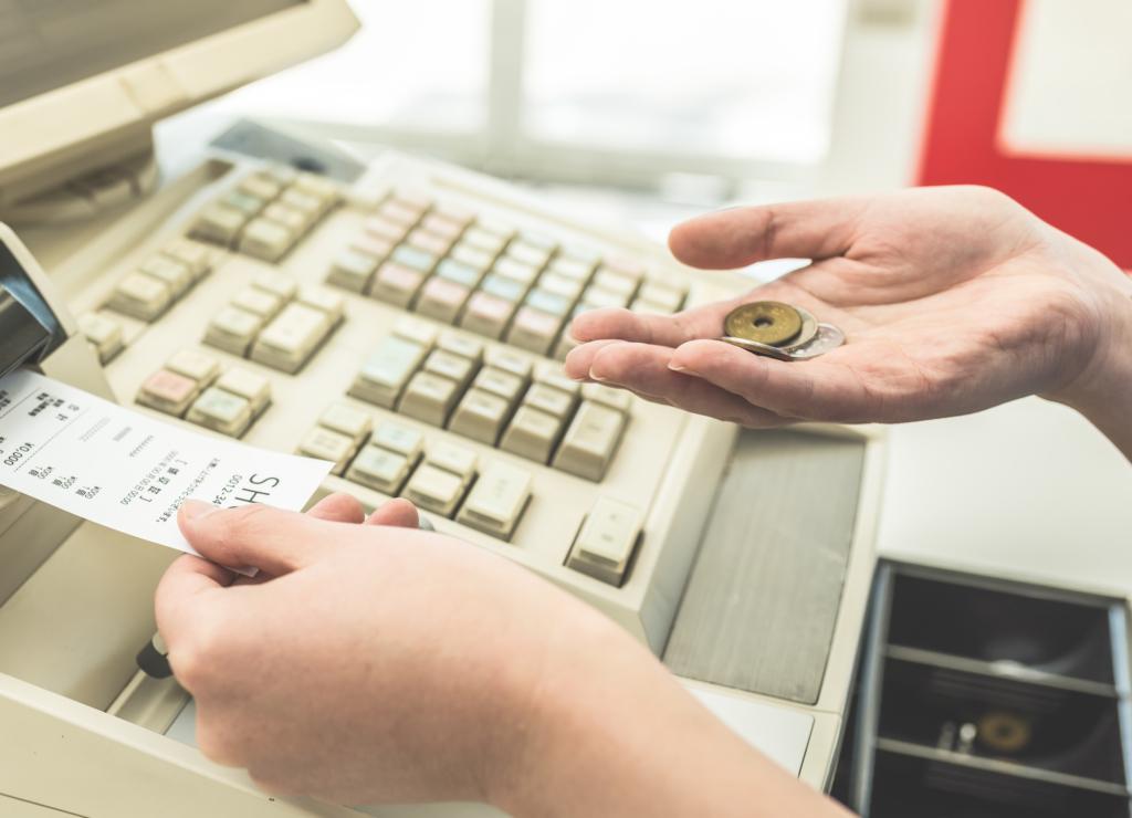 Taking money from the register